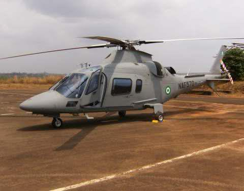 Nigerian Air Force Agusta helicopter