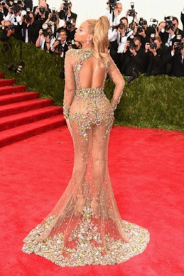 look again beyonce stuns in a half nake gown to the chinese themed