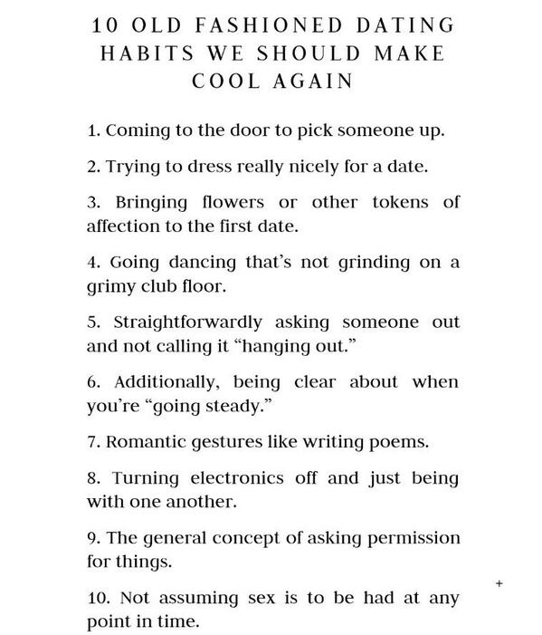 10 old fashioned dating habits lifebuzz