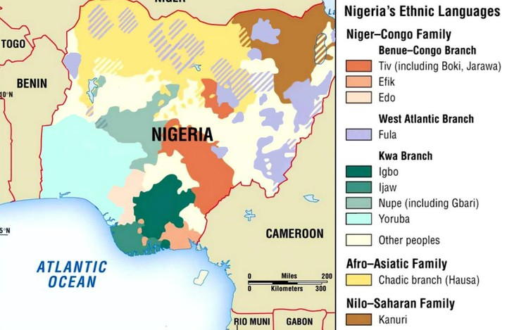 the population and languages spoken in nigeria Nigerian languages 25,000 in nigeria (1998 r m blench) population total all ngala lga, 12 rather dense villages also spoken in cameroon alternate.