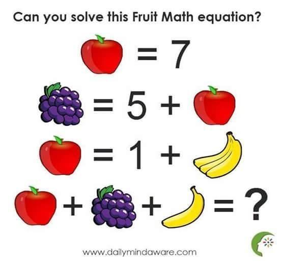 Are You A Genuis Can You Solve This Fruit Maths Jokes