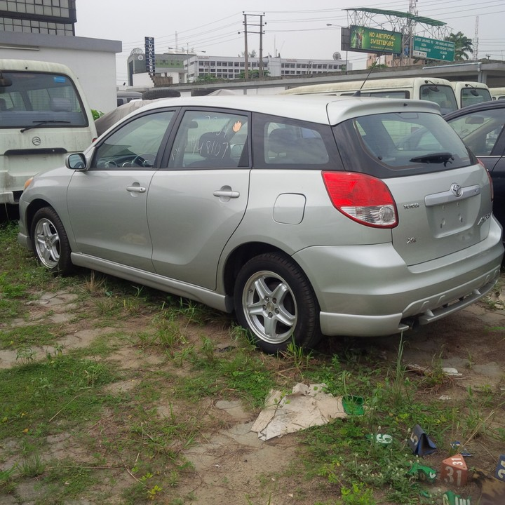 Olabosipo motors sweet tokunbo 2004 toyota matrix xr manual gear vehicle is xr black leather interior 5 speed manual alloy wheels chilling ac very neaall over call now to inspect 08039624703 publicscrutiny Gallery