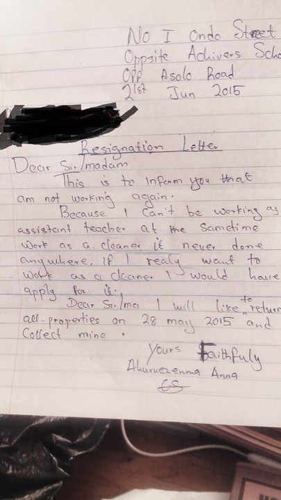 Photo see a teachers resignation letter education nigeria photo see a teachers resignation letter education nairaland altavistaventures Images