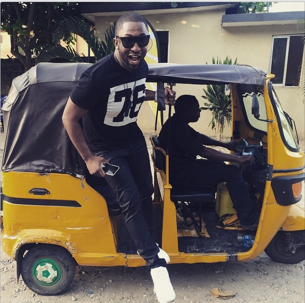 Fuel Scarcity: Nigerian Celebrities Now Rolling In Keke And Okada (Photos)