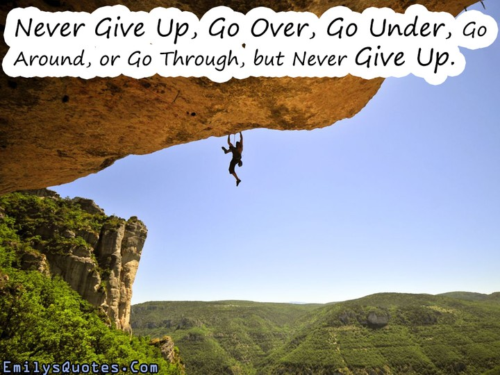 giving up is not an option read this nairaland