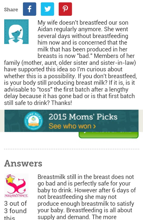 how to tell if breast milk is bad