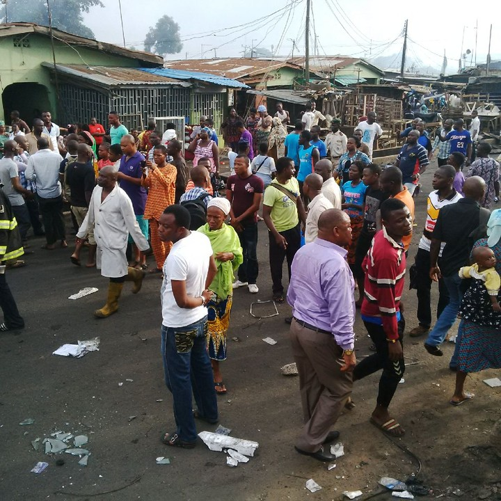 Photos From Fire Incident At Iyana-ipaja, Lagos