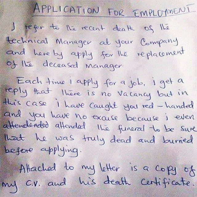 Photo how to write a good job application letter career nigeria expocarfo Gallery