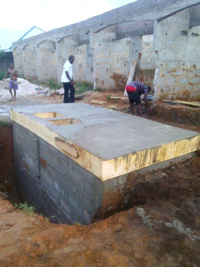 A nairanlander 39 s building project properties nigeria for How to build a septic tank