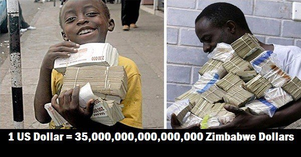 zimbabwe a worthless currency The goods and services that a unit of currency can purchase becomes fewer and fewer until the unit of currency itself becomes practically worthless the inflation rate of the zimbabwean dollar, the original official currency of zimbabwe, was estimated to be 231 million percent in 2008.