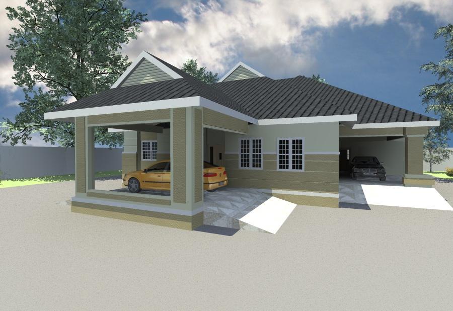 Architectural design of 4 bedroom duplex in nigeria for Modern duplex house plans in nigeria