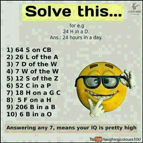 do you have a high iq let s see forum games nigeria