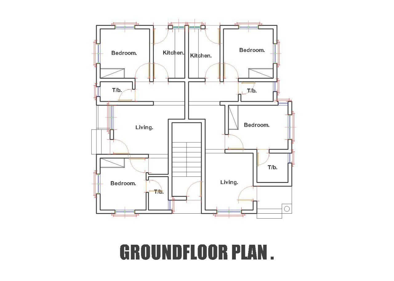 3 Bedroom Ground Floor Plan In Nigeria Bedroom Review Design