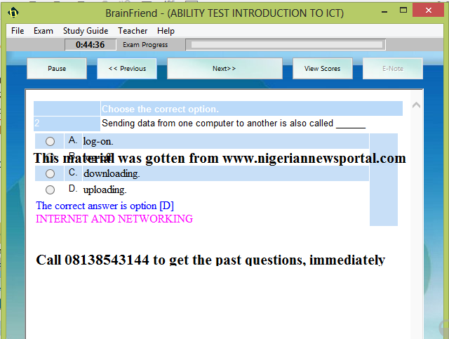 download nitda scholarship test past questions and answers cinfores