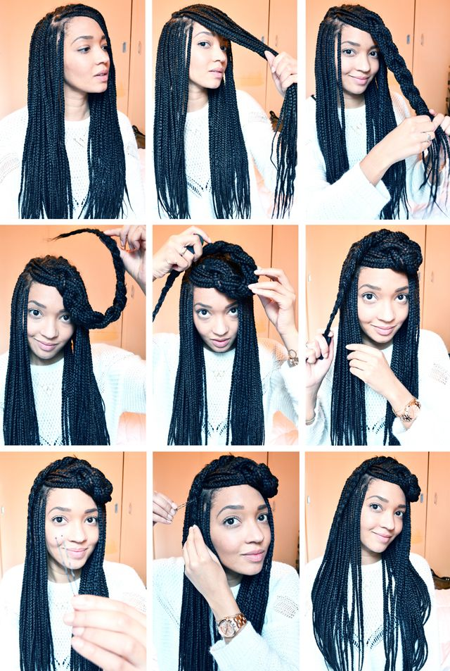 How To Style Single Braids And Pix Of Different Hot Styles Of Ghana
