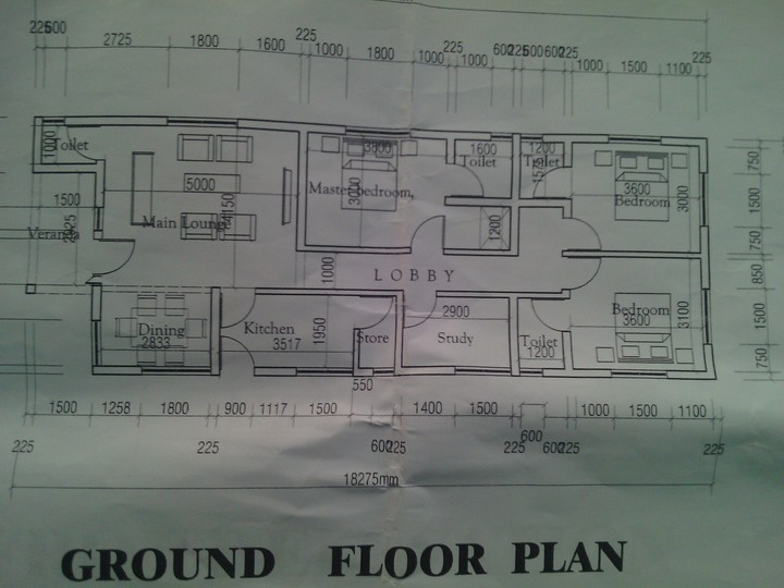 Laying Foundation For A 3 Bedroom Flat On Half Plot Of