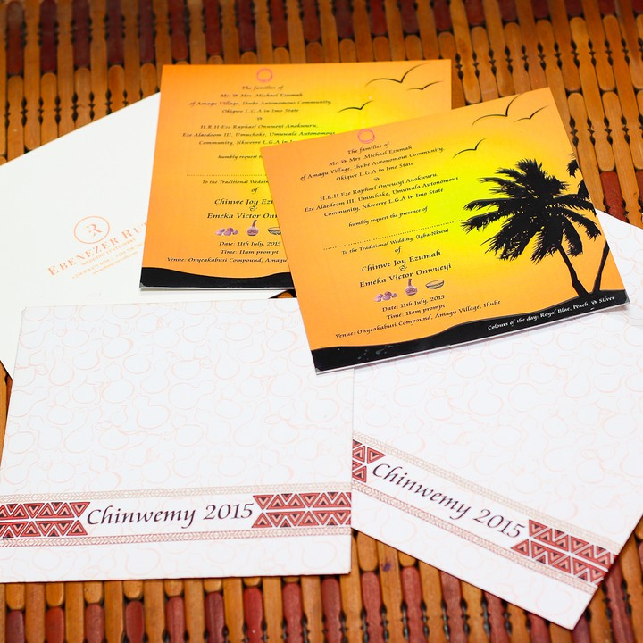 hand made wedding invitation card made for a Nairalander by us – Wedding Invitation Cards in Nigeria