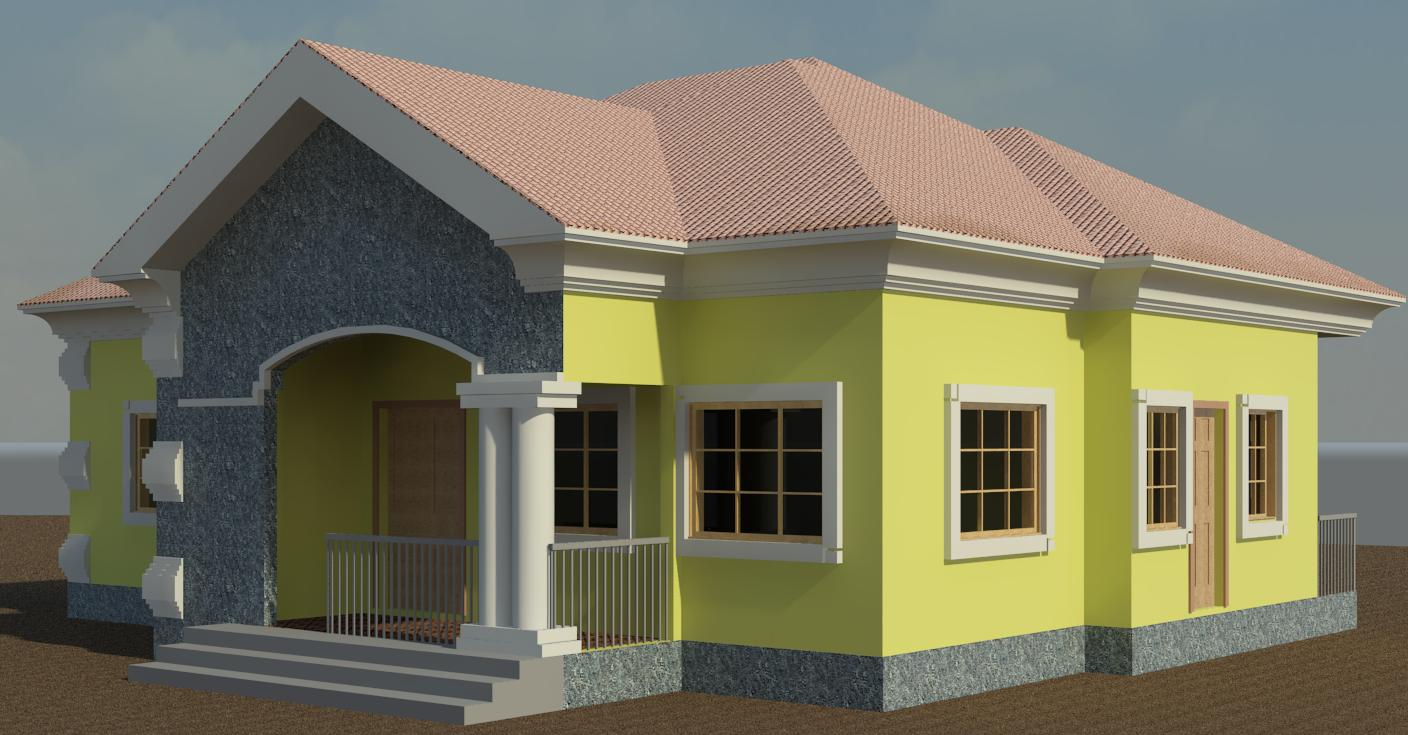 How to build a low budget bungalow 3 bedroom flat as case study properties nigeria - Detailed three bedroom flat ...
