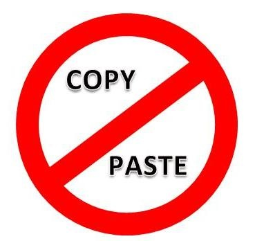 Copy and paste is bad
