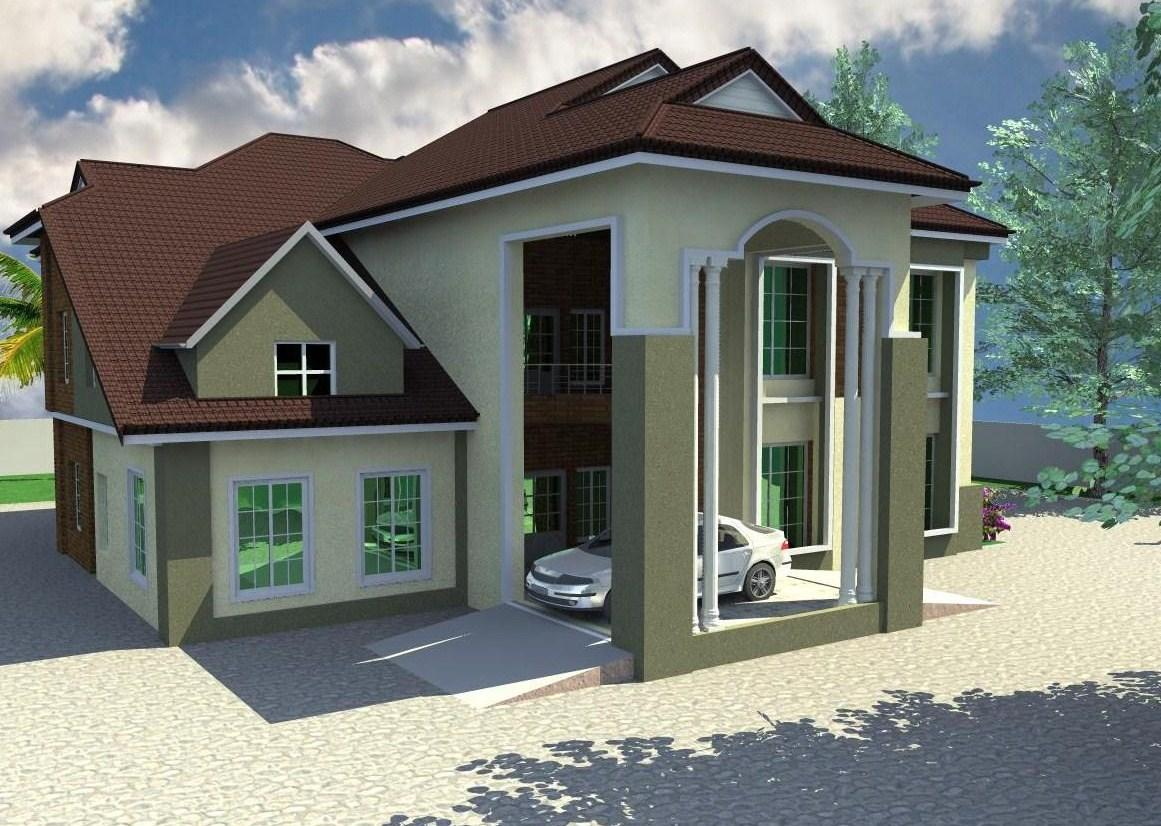 Structure of 5 bedroom duplex house for 5 bedroom duplex