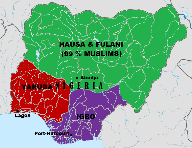 Map Of Ethnic Groups In Nigeria As It Revolves From 1901 2015