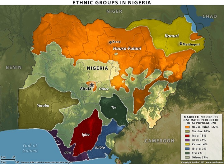 Map Of Ethnic Groups In Nigeria As It Revolves From - Nigeria map