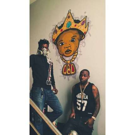 Davido Shows Off Customized 'OBO' Artwork In His Mansion