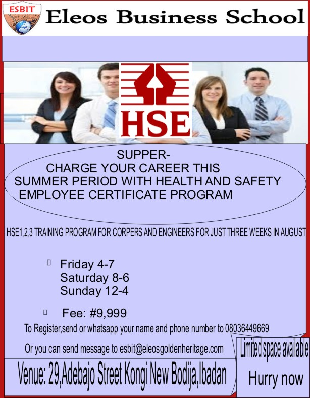 hse certificate training in ibadan 1 share