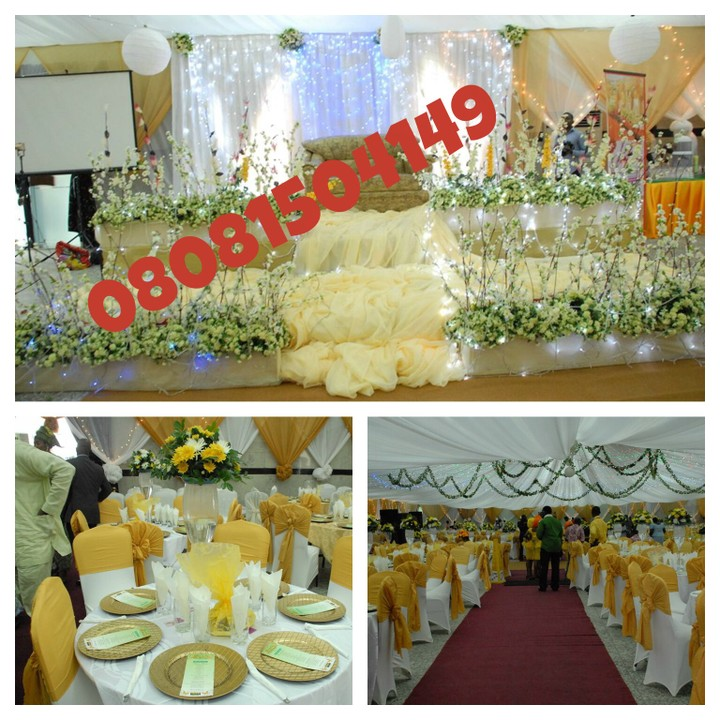 Wedding Venue Decoration At An Affordable Price Call 08081504149