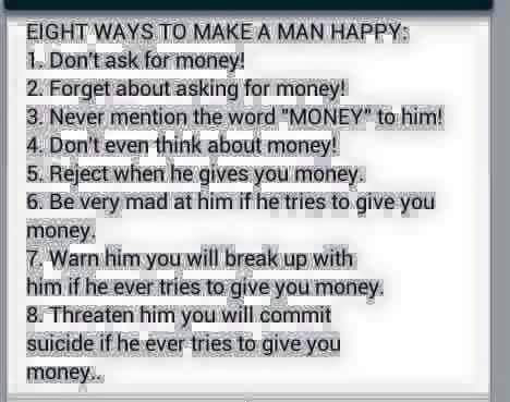 How Can You Make A Man Happy