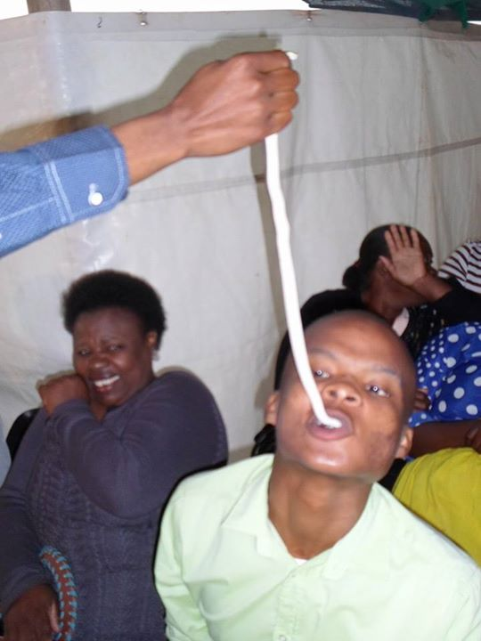 South African Pastor Strips Members During church service