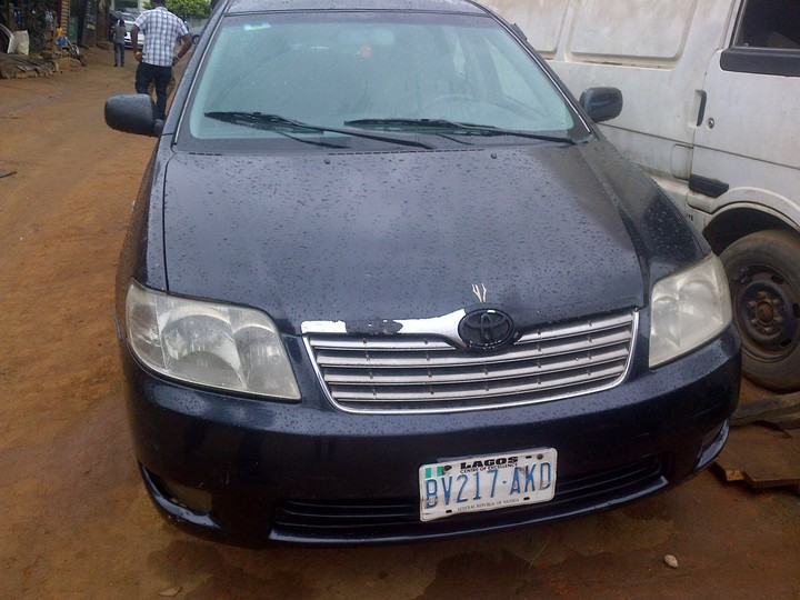 registered 2006 toyota corolla gli banktype autos nigeria. Black Bedroom Furniture Sets. Home Design Ideas