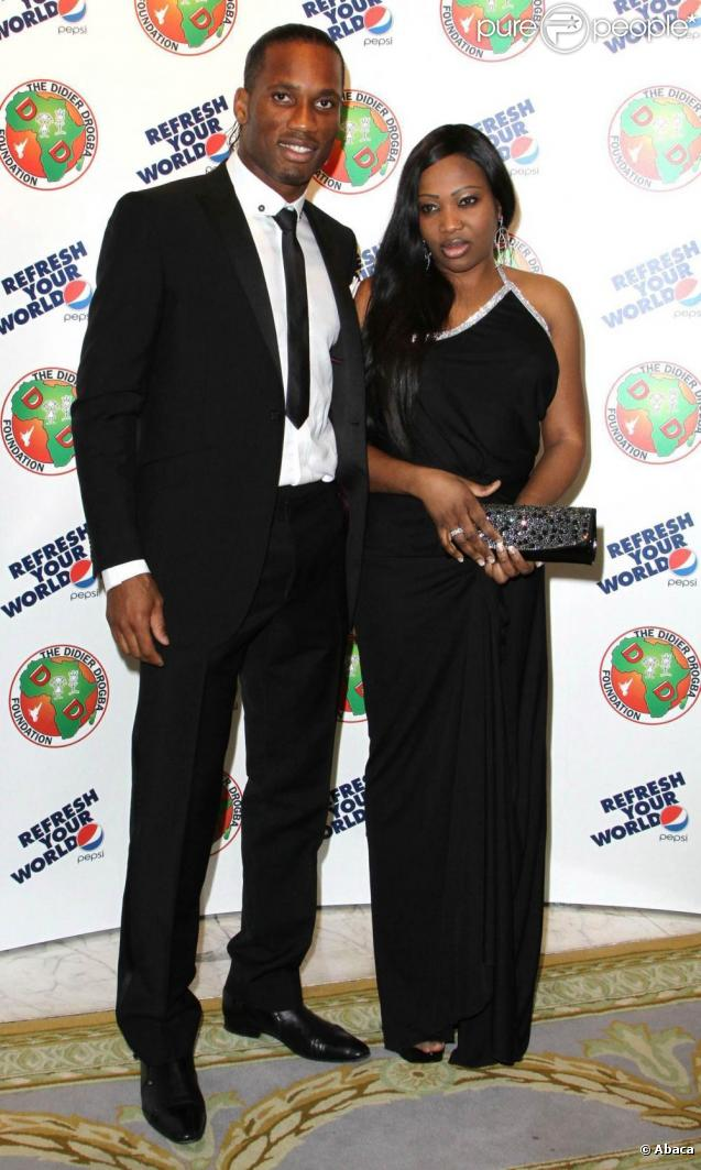 Didier Drogba with cool, Wife Diakité Lalla