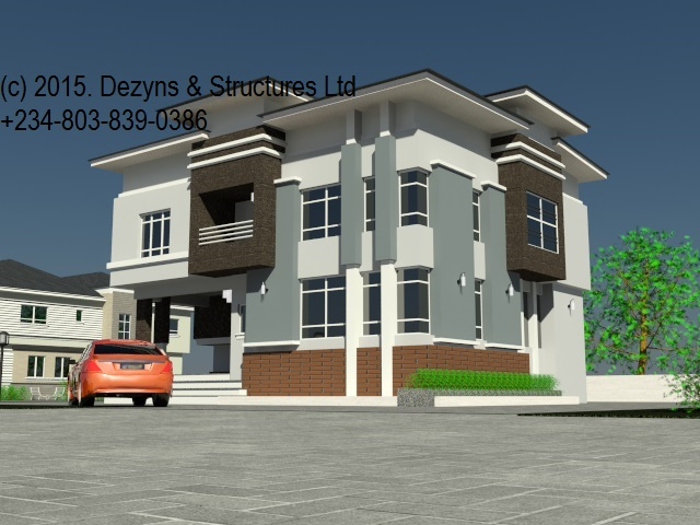 4 bedroom duplex a new dimension to nigerian architecture for Cost to build duplex