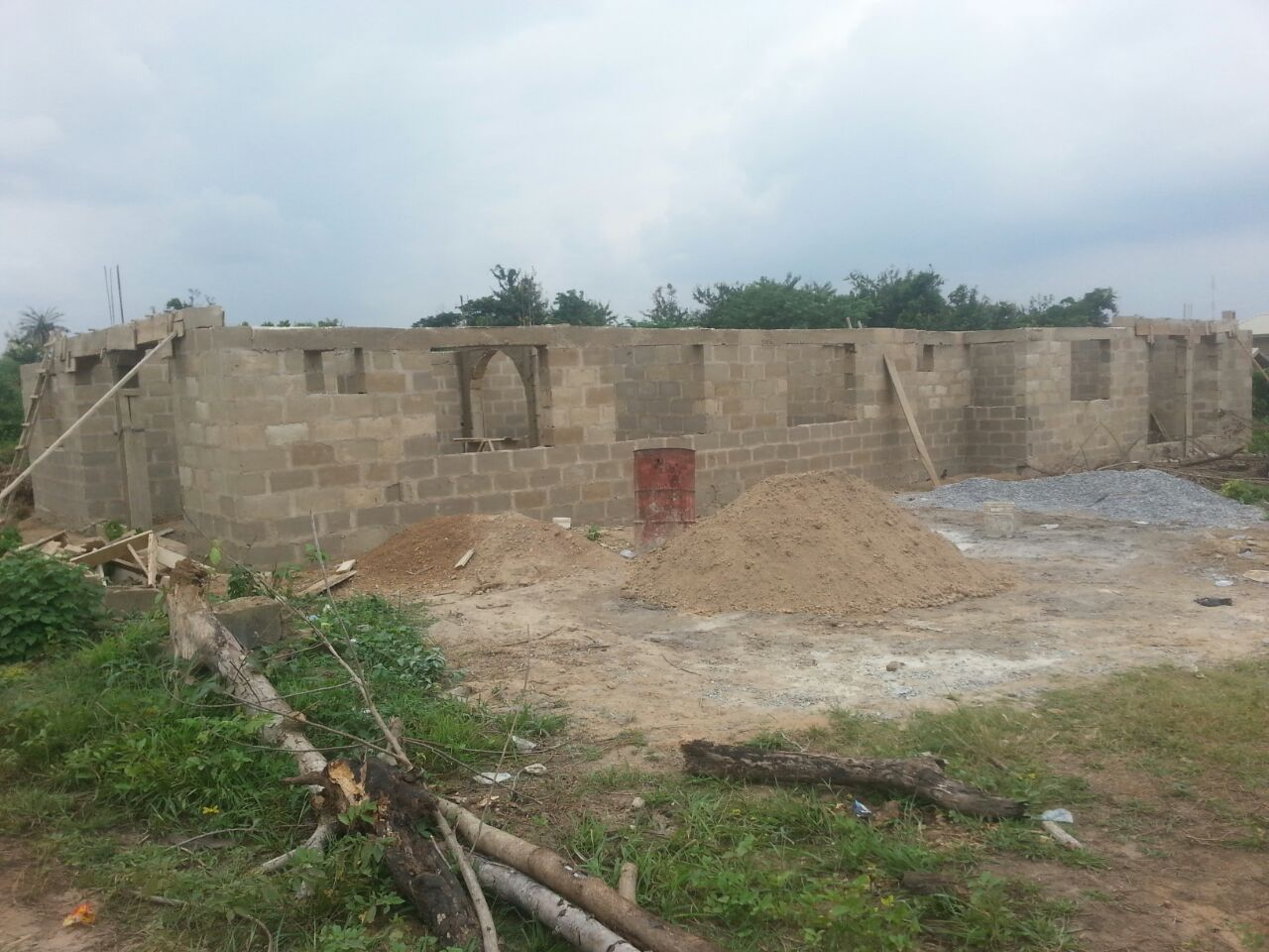 Cost Of Building 2 Flat 3 Bedroom Each In Ibadan Properties Average Rewiring A 4 Bed House The First Pics Was From Foundation To Lintel Which Me About 12m I Spent 400k On Attached Here Is Picture After