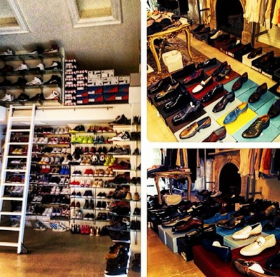 He Said Wasnt Doing It To Brag But Show Chris Brown That The One With Stairs Of Shoes Check Out Pics And His Instagram Message
