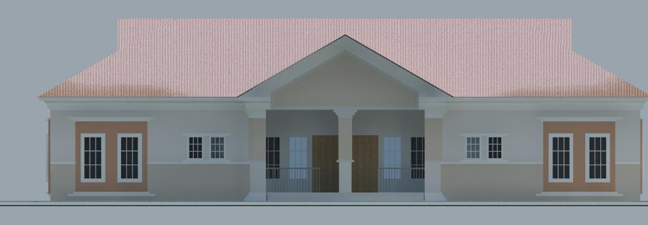Construction Of Two Unit Semi Detached Two Bedroom Flat