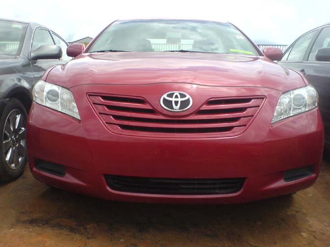 2008 toyota camry le red colour just cleared from tincan autos nigeria. Black Bedroom Furniture Sets. Home Design Ideas