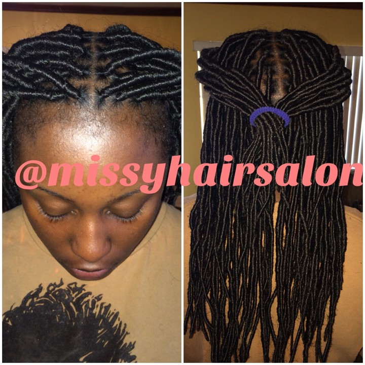 Hair Detail Faux Locs Fashion Nigeria