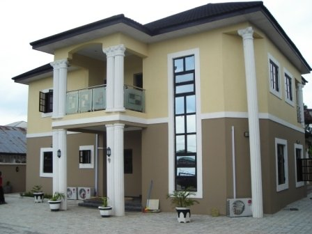 Buy calmlux paint and we paint your house for free for House painting in nigeria