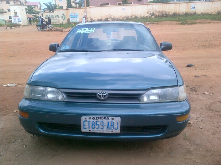 1996 toyota corolla for sale in abuja pix inside autos nigeria. Black Bedroom Furniture Sets. Home Design Ideas