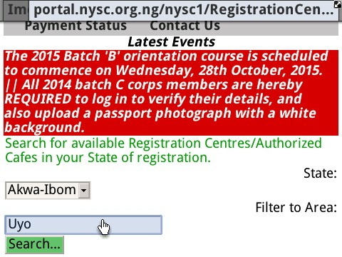 2 Important Reminders For NYSC 2015 Batch 'B' Corpers