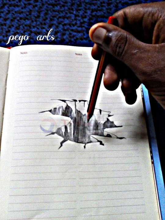 Please rate my 3d paper pencil drawing art graphics video nigeria