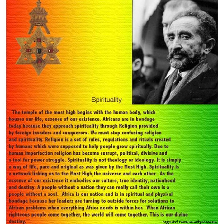 rastafarianism as a religion and a way of life Free essay: rastafari is, before it is anything else, a way of life it offers approaches and answers to real problems black people face in daily living it.