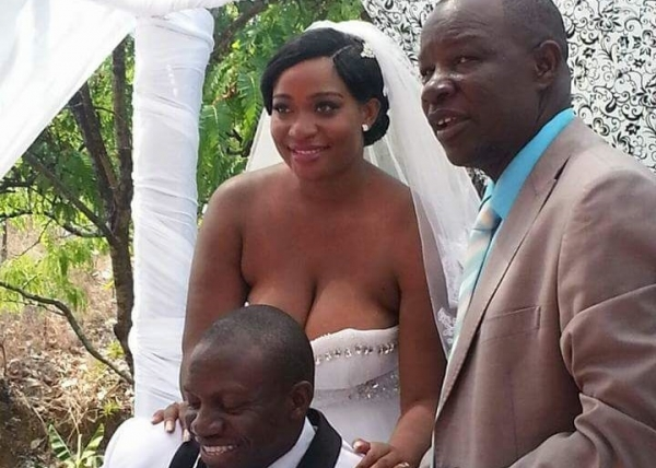 See The Revealing Wedding Gown She Wore To Her