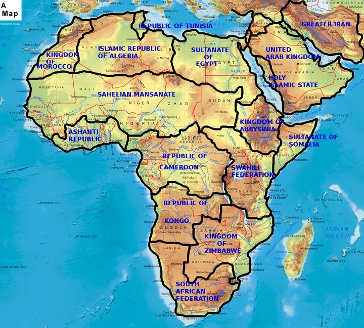 Redrawn Map Of Africa, With New Borders(check The Pic)   Politics