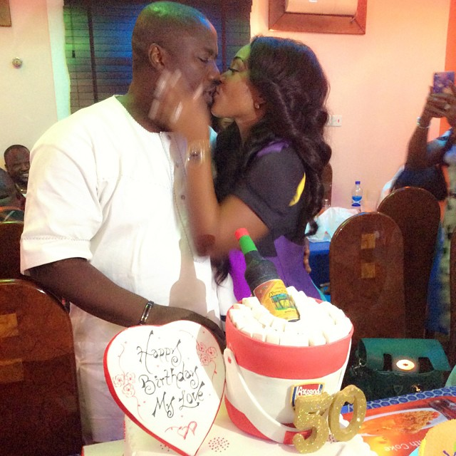 The Cake Mercy Aigbe Got For Her Husbands 50th Birthday Photos