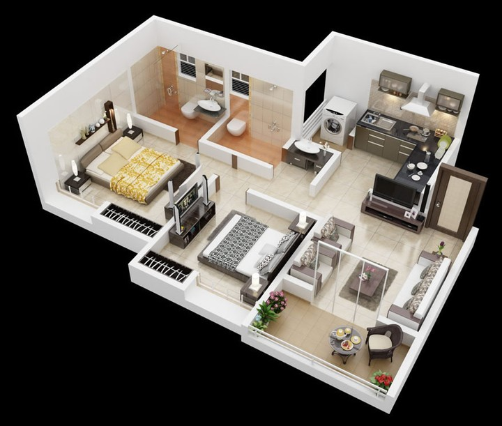 """The Cove Apartments On 44th: Twenty Two """"2"""" Bedroom House Plan"""