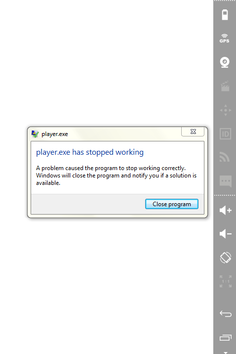 exe stopped working windows 7