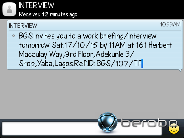 Help to verify this job invite jobsvacancies nigeria 1 like stopboris